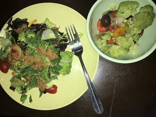 salad and veggies