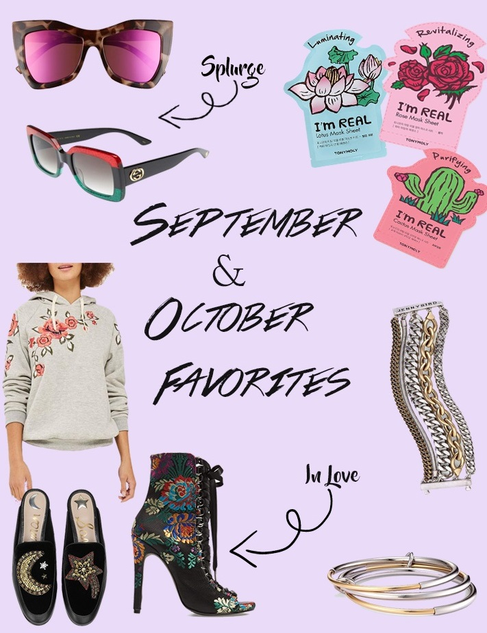 September & October Favorites