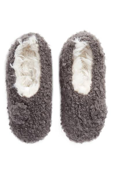 Grey Slipper Socks