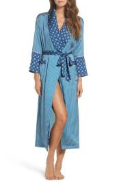 Mixed Pattern Blue Robe