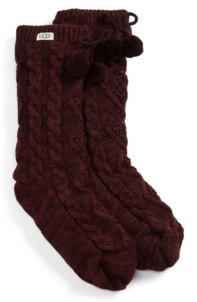 Ugg Burgundy Socks